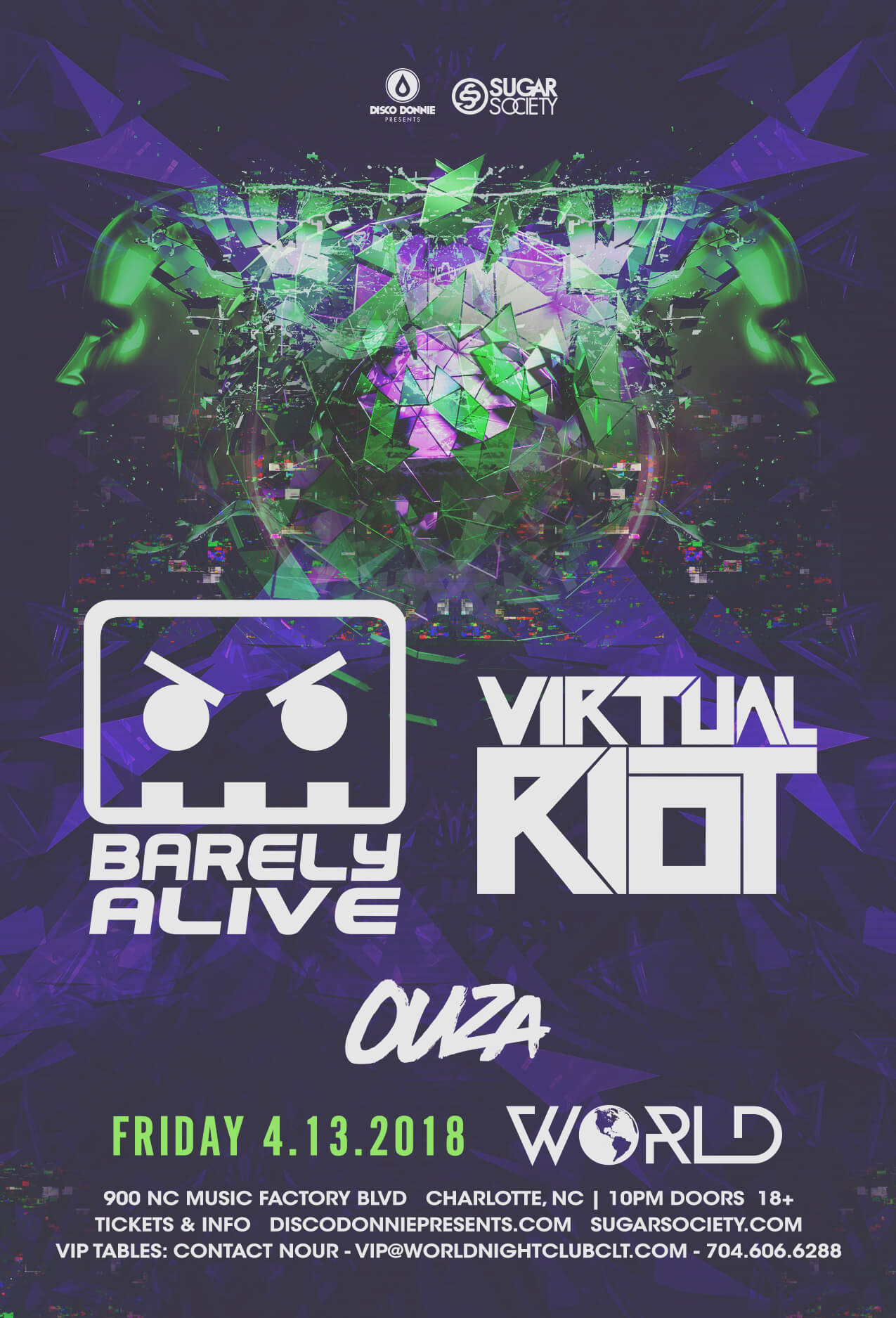 Barely Alive, Virtual Riot in Charlotte