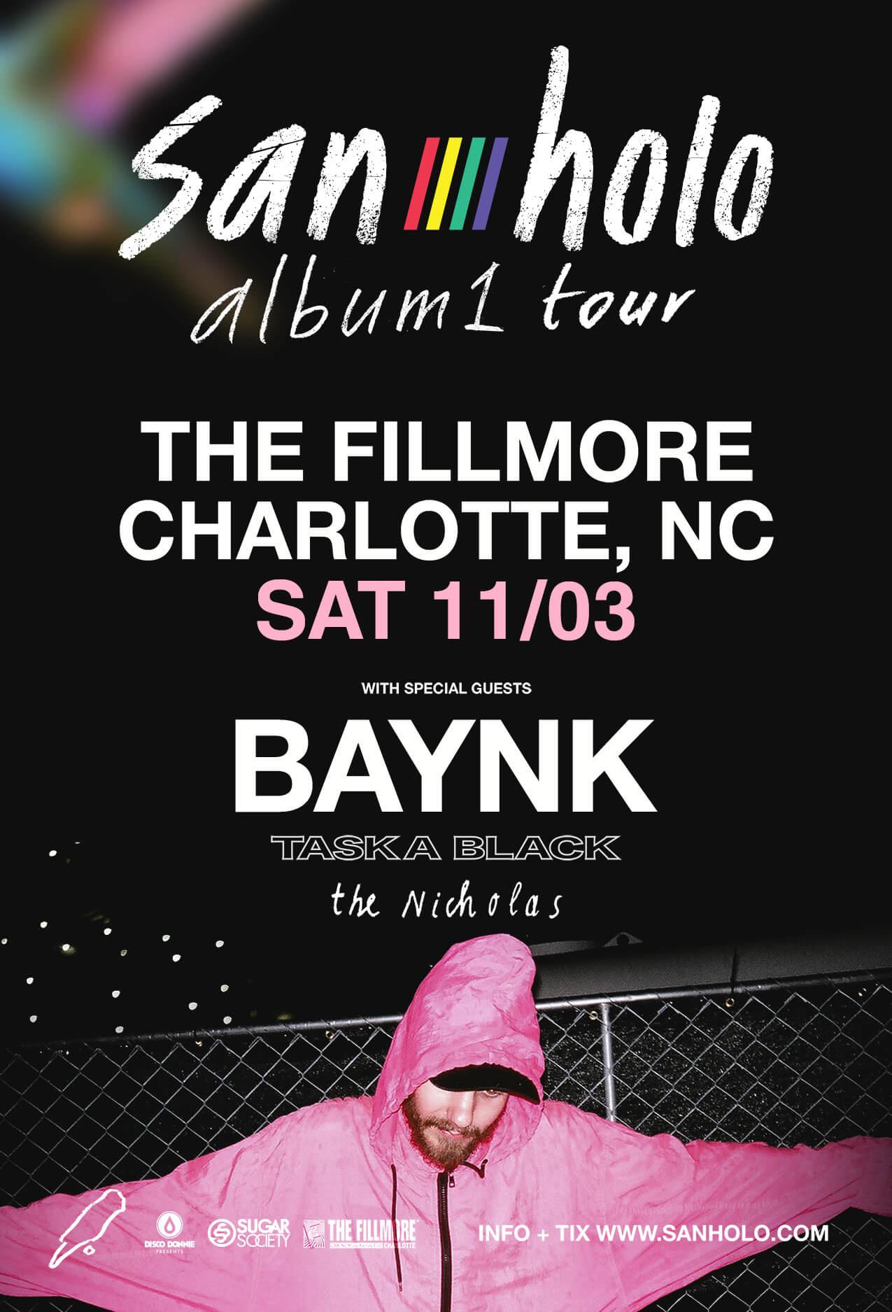 San Holo, Baynk, Taska Black, The Nicholas in Charlotte