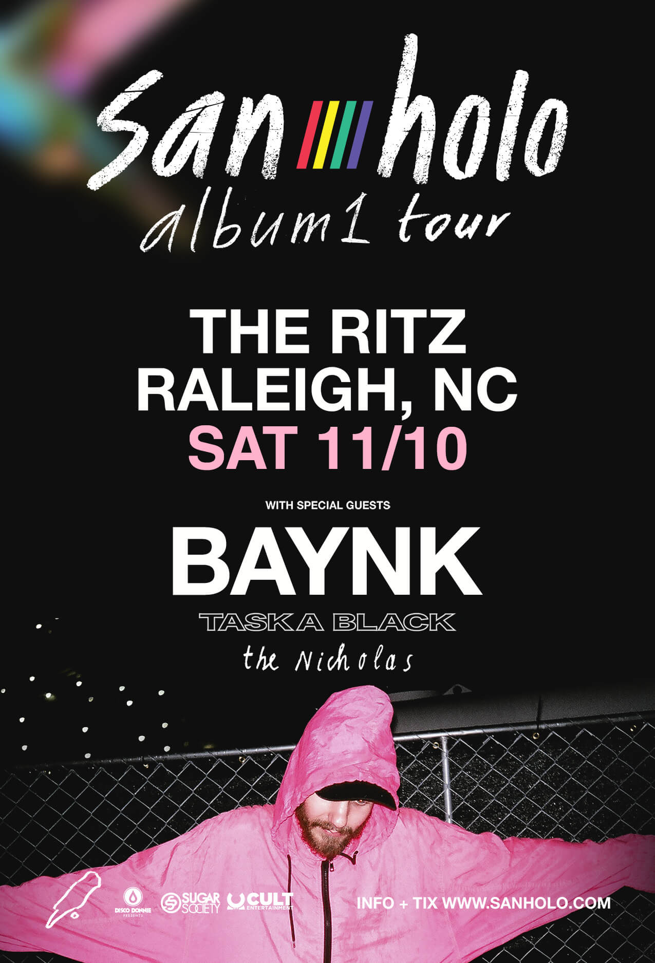 San Holo, Baynk, Taska Black, The Nicholas in Raleigh
