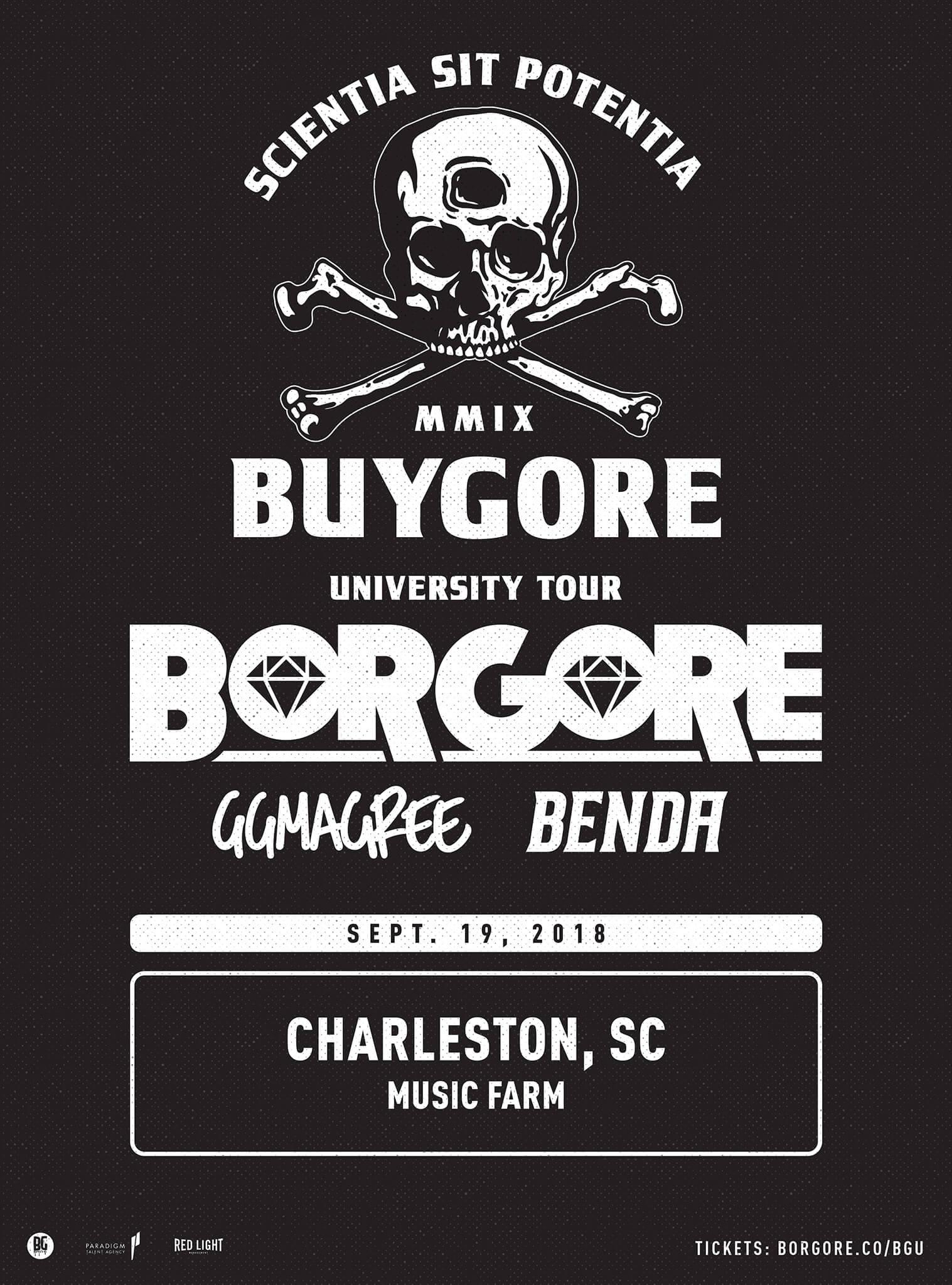 Borgore, GG Magree, Benda in Charleston