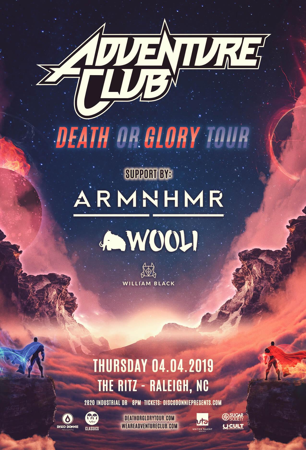 Adventure Club, ARMNHMR, Wooli, William Black in Raleigh