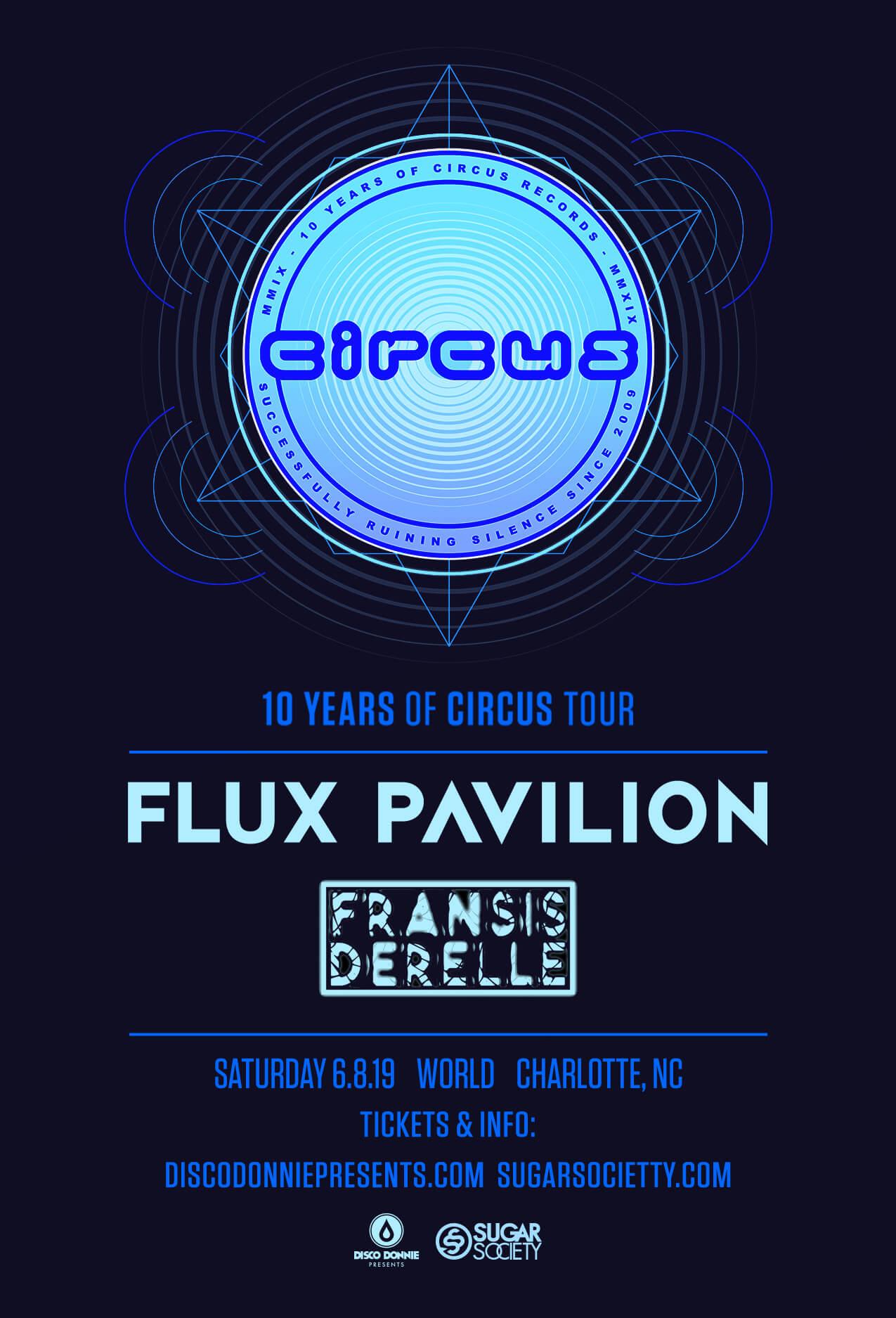 Flux Pavilion, Fransis Derelle in Charlotte