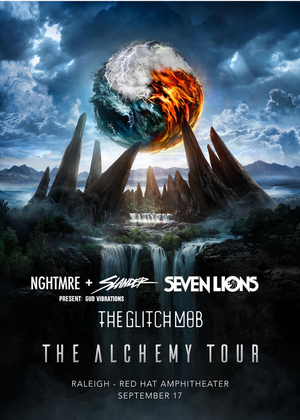NGHTMRE, Slander, Seven Lions, The Glitch Mob in Raleigh