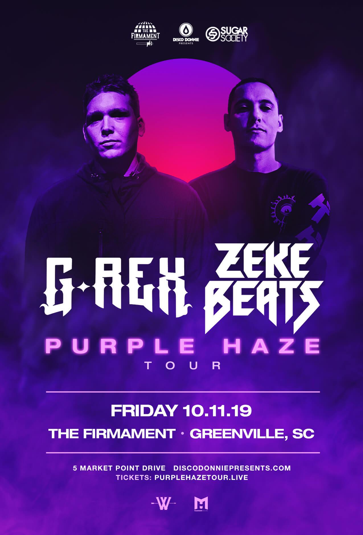 G-Rex, Zeke Beats in Greenville