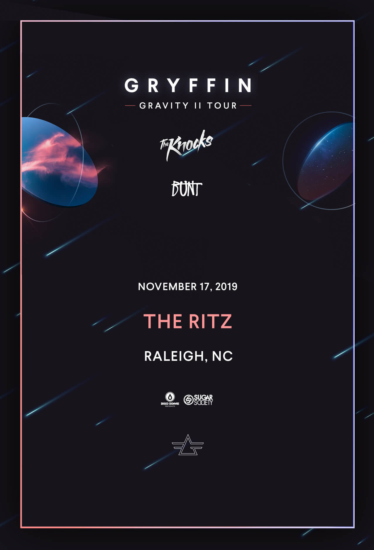Gryffin, The Knocks, BUNT in Raleigh