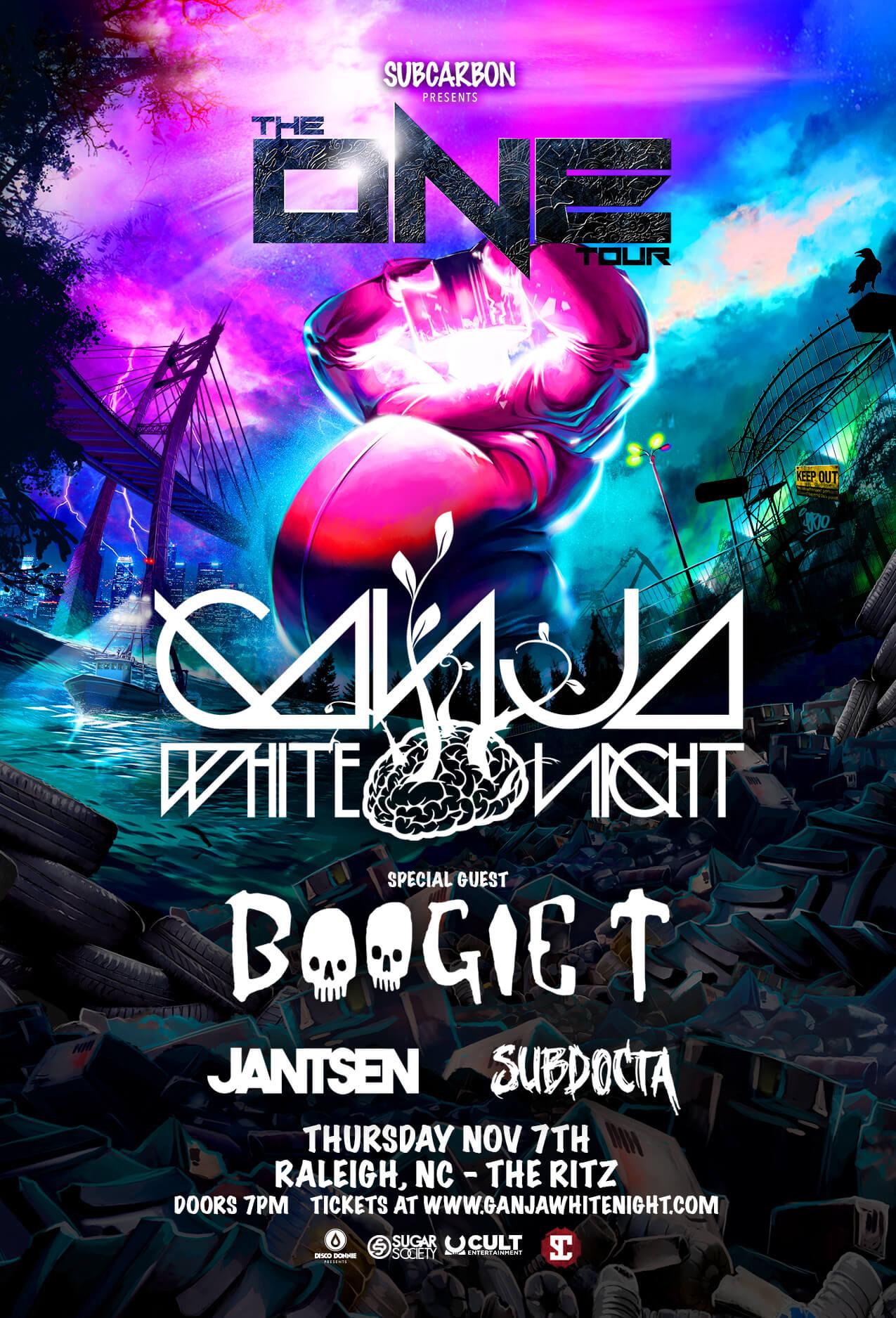 Ganja White Night, Boogie T, Jantsen, SubDocta in Raleigh