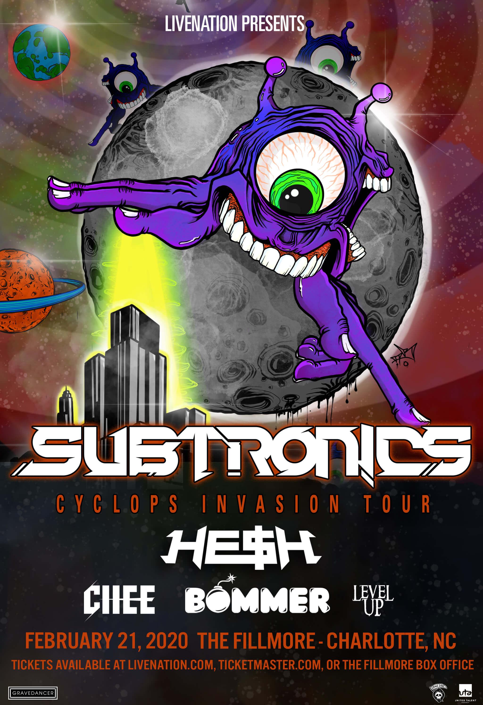Subtronics, Hesh, Chee, Bommer, Level Up in Charlotte