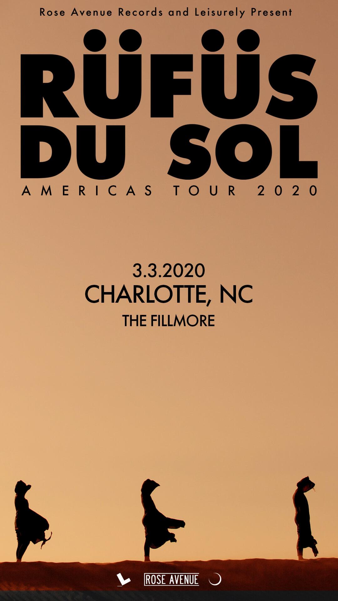 RÜFÜS DU SOL in Charlotte