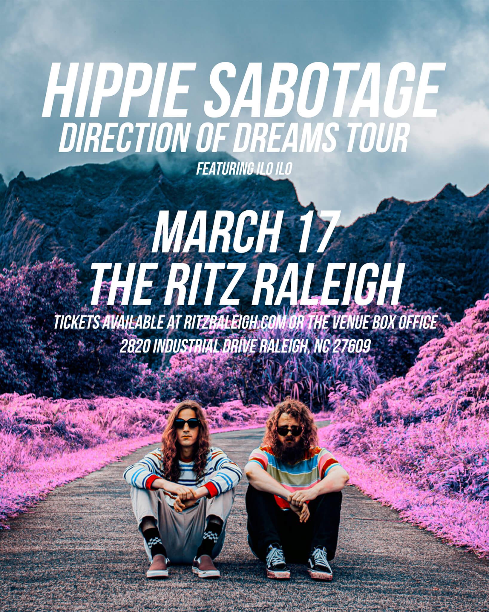 Hippie Sabotage in Raleigh