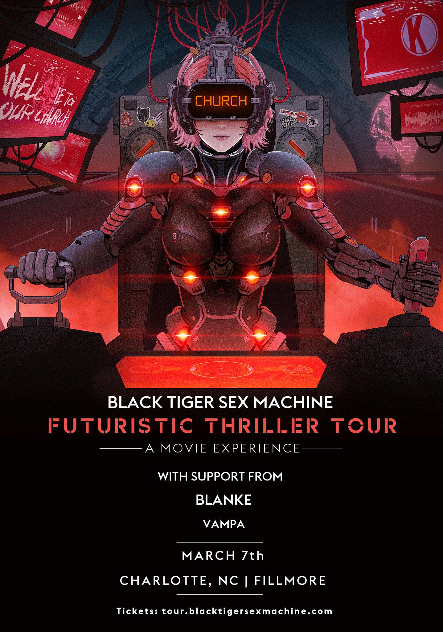 Black Tiger Sex Machine, Blanke, Vampa in Charlotte