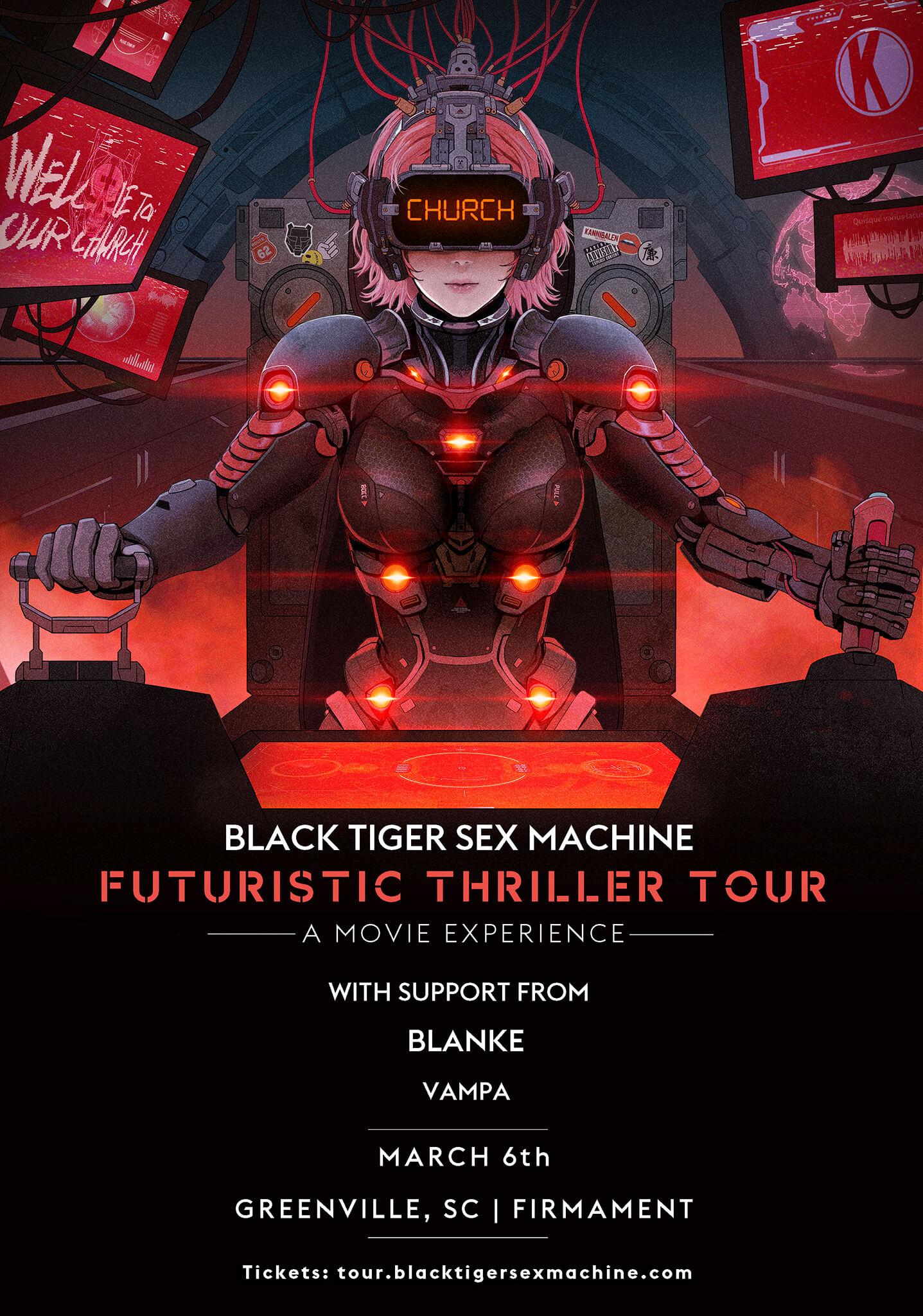 Black Tiger Sex Machine, Blanke, Vampa  in Greenville
