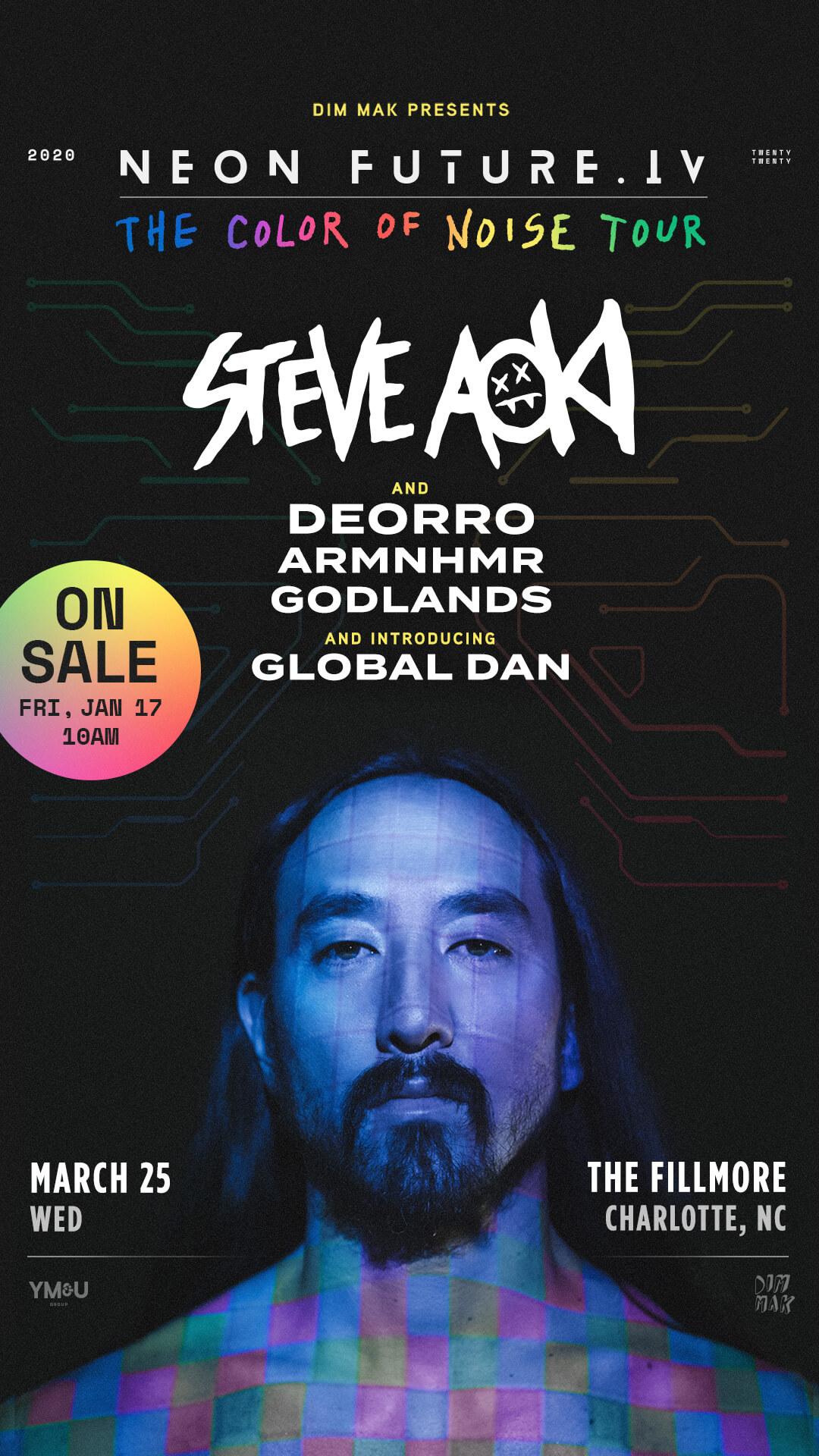 Steve Aoki, Deorro, ARMNHMR, Godlands, Global Dan in Charlotte