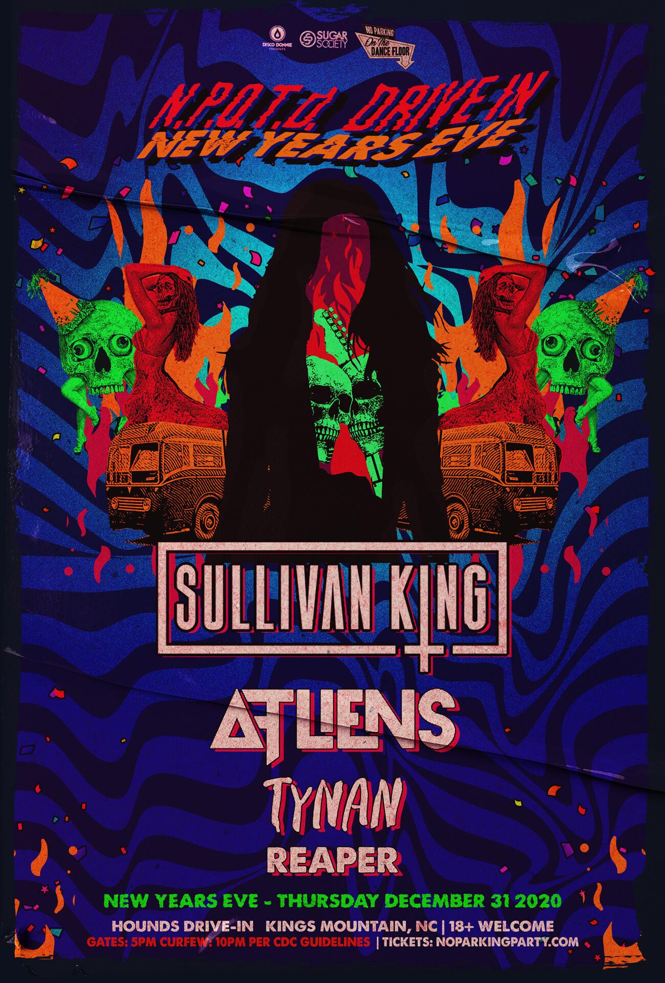 Sullivan King, ATLiens, Tynan, Reaper in Kings Mountain