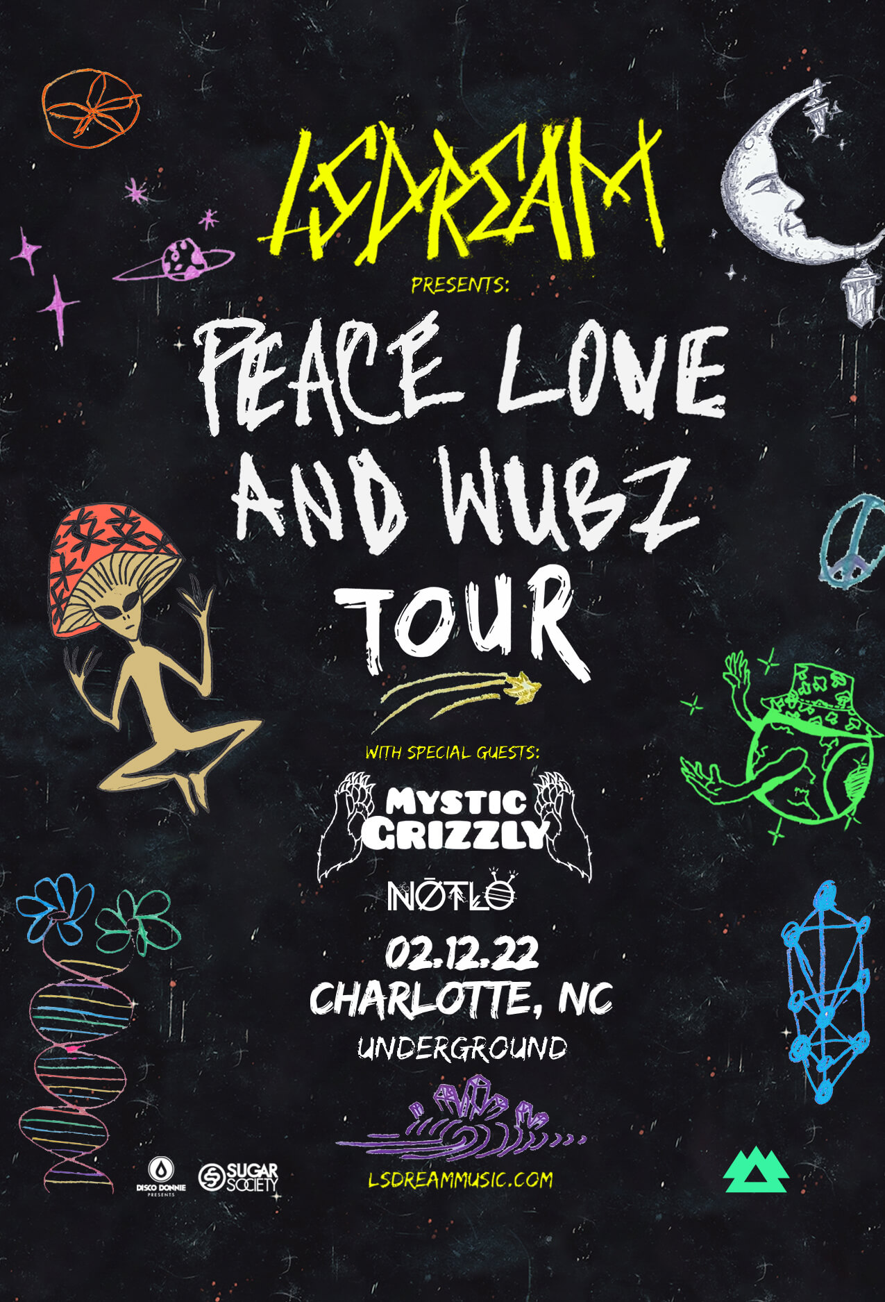 LSDREAM, Mystic Grizzly, Notlo in Charlotte