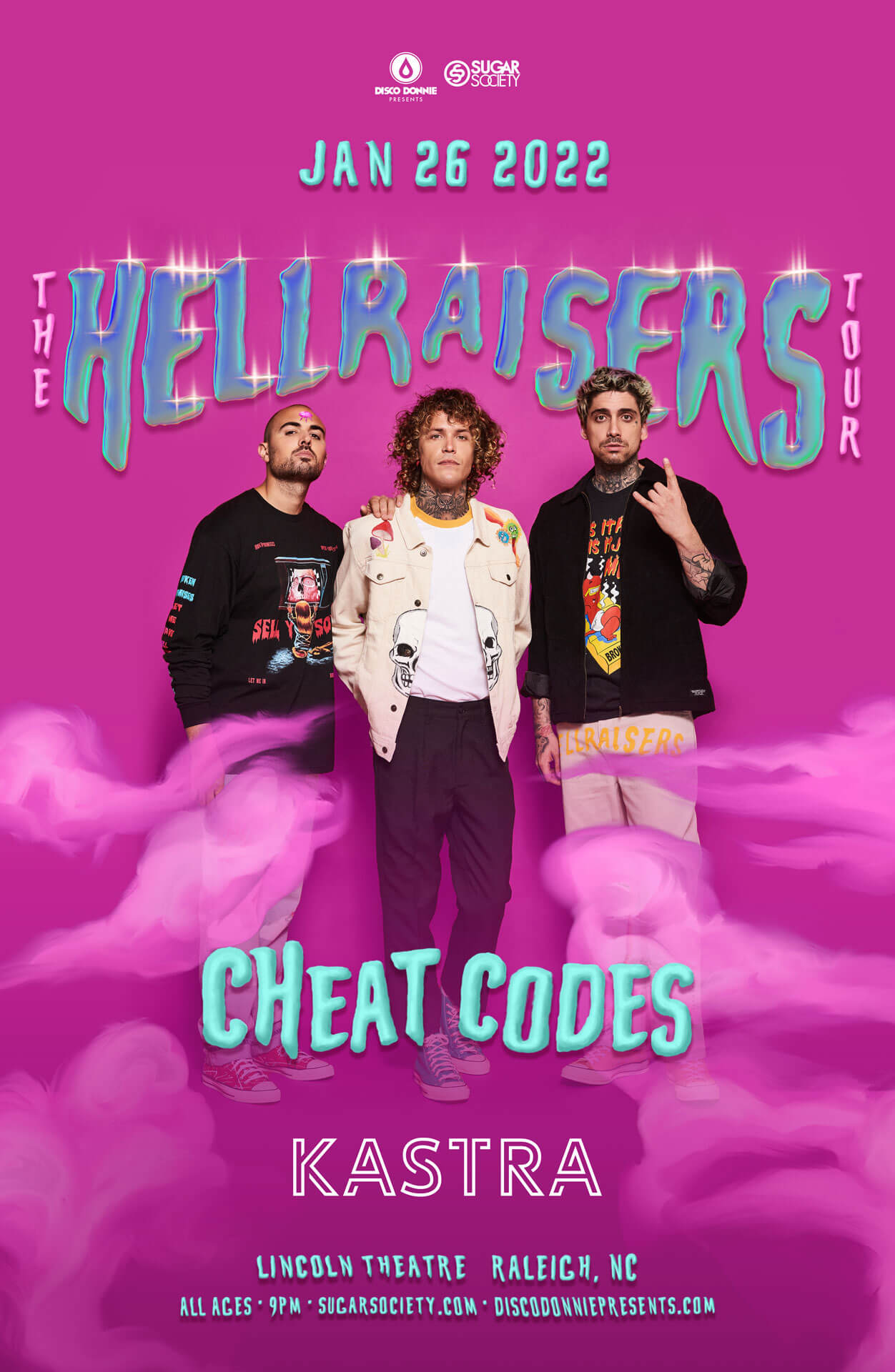 Cheat Codes, Kastra in Raleigh
