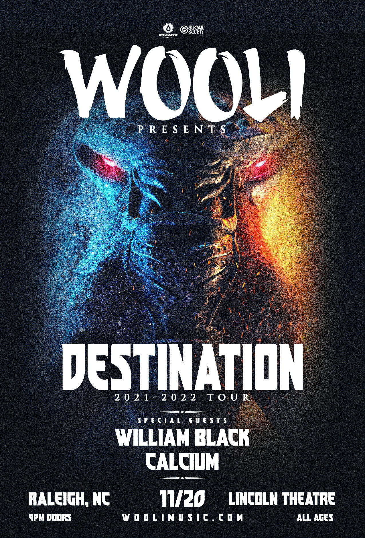 Wooli, William Black, Calcium in Raleigh