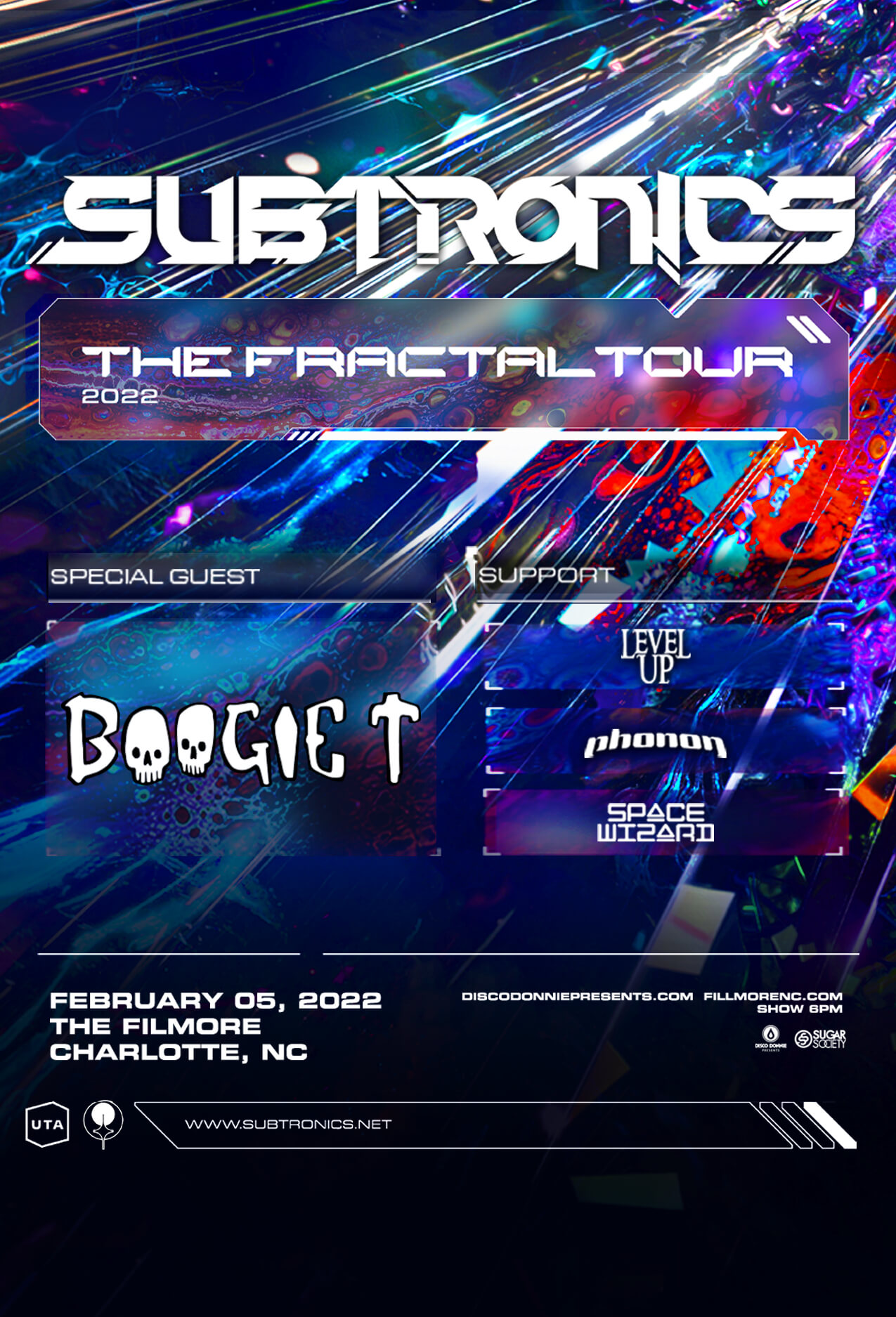 Subtronics, Boogie T, Level Up, phonon, Space Wizard in Charlotte