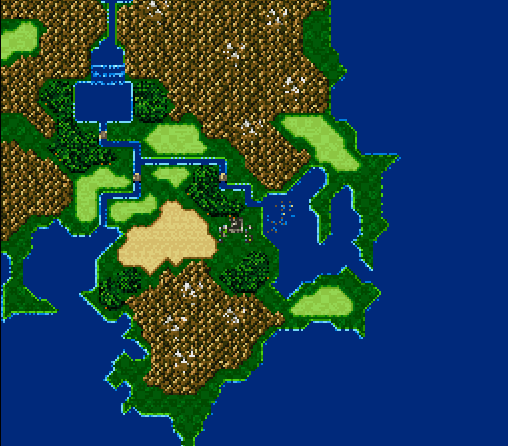 Final Fantasy Nes World Map.Final Fantasy Maps Through The Ages The Snes Era Tilting At Pixels