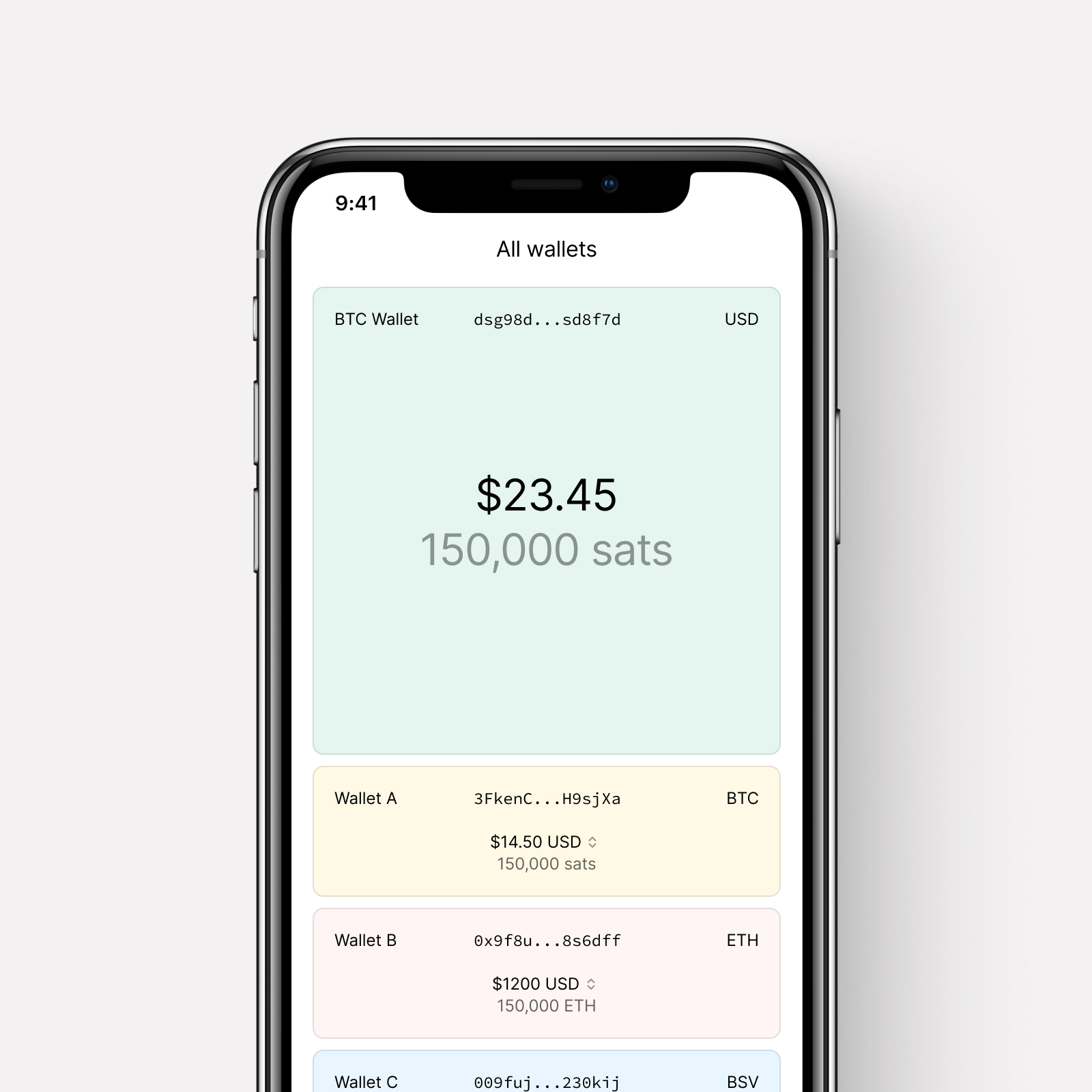 A speculative payments interface