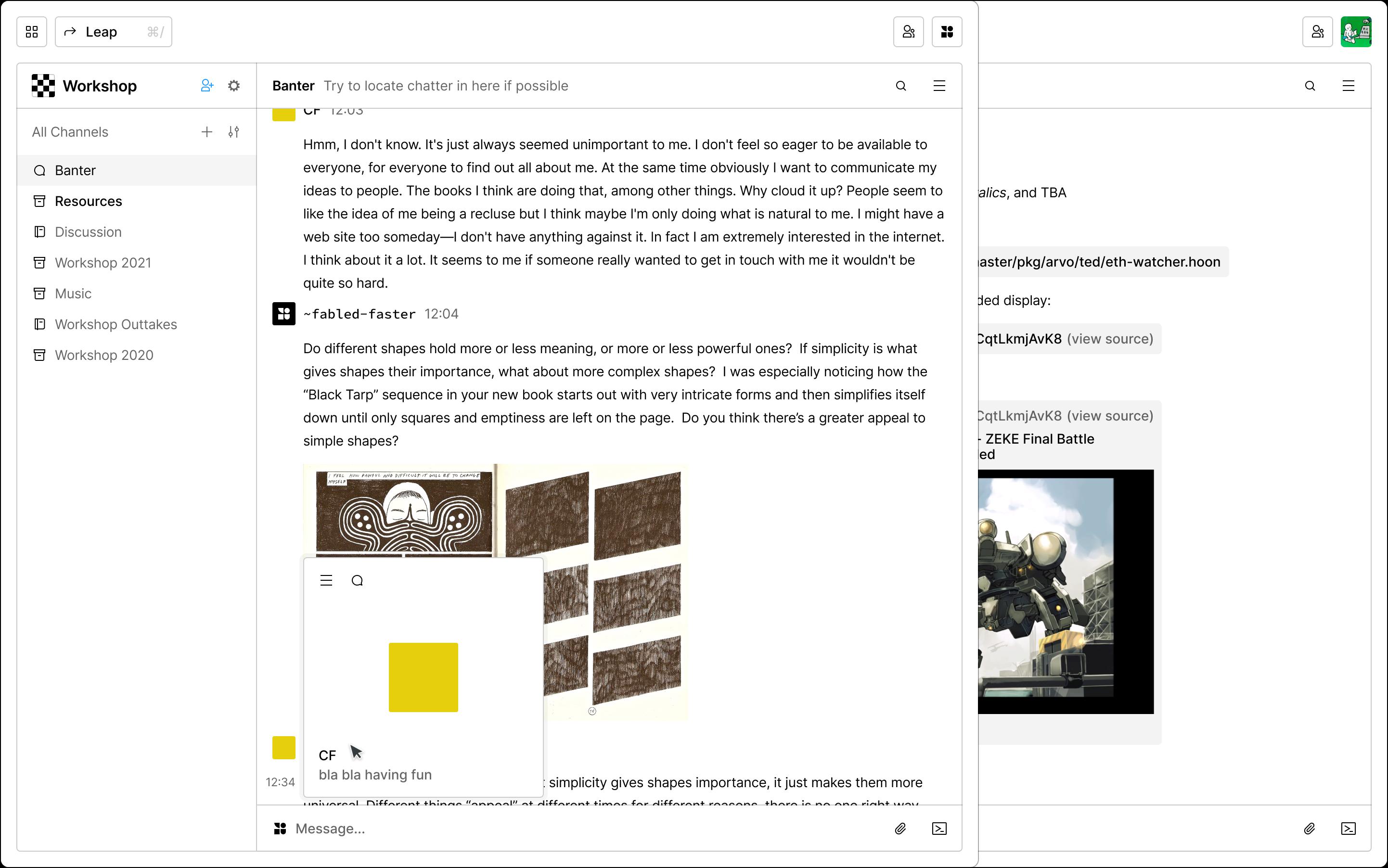 Landscape Chat Interface