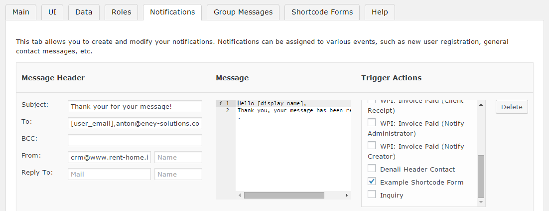 WP CRM Settings The Notifications Tab · wp-crm/wp-crm Wiki