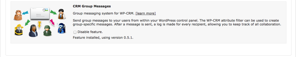 wpcrm_settings_features_group mesages