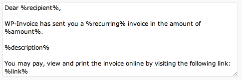 How Much Can You Claim Without Receipts Wpinvoice Settings E Mail Templates Tab  Wpinvoice  Usability  Ronin Invoice with Microsoft Templates Receipt Pdf Here Is Some Example Of Default Template Online Invoice Software