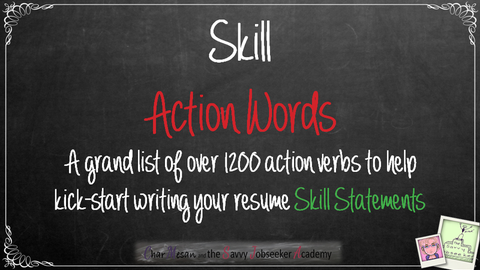 essential resume writing word list skill action words