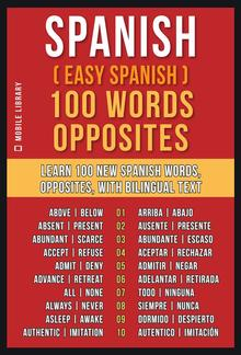 Spanish ( Easy Spanish ) 100 Words - Opposites PDF