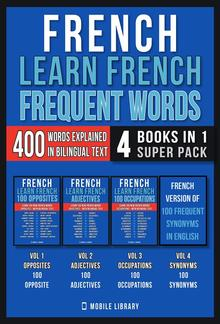 French - Learn French - Frequent Words (4 Books in 1 Super Pack) PDF