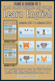 Pack 2 Books in 1 - Animals ABC 1 and Animals ABC 2 - Flash Cards Pictures and Words Learn English PDF