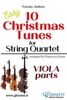 "Viola part of ""10 Christmas Tunes"" for String Quartet PDF"