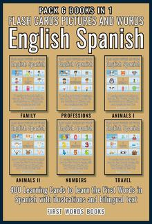 Pack 6 Books in 1 - Flash Cards Pictures and Words English Spanish PDF