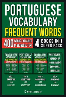 Portuguese Vocabulary - Frequent Words (4 Books in 1 Super Pack) PDF