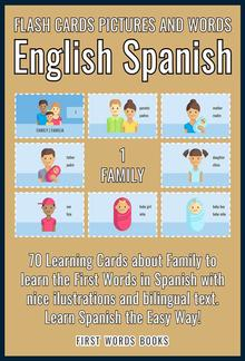 1 - Family - Flash Cards Pictures and Words English Spanish PDF