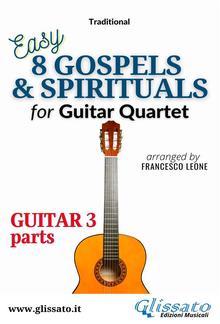 """Guitar 3 part of """"8 Gospels & Spirituals"""" for Guitar quartet PDF"""