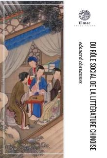 Du rôle social de la littérature chinoise PDF