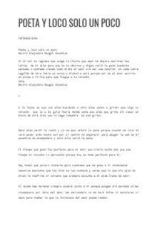 Poeta y loco solo un poco PDF