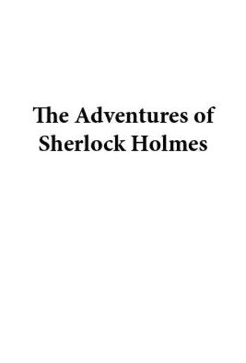 The Adventures Of Sherlock Holmes Pdf Media365