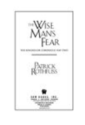 The Wise Mans Fear Pdf