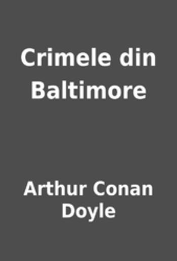 Crimele din Baltimore PDF
