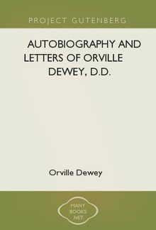 Autobiography and Letters of Orville Dewey, D.D. PDF