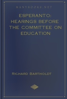 Esperanto: Hearings before the Committee on Education PDF
