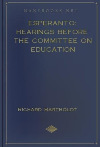 Esperanto: Hearings before the Committee on Education PDF