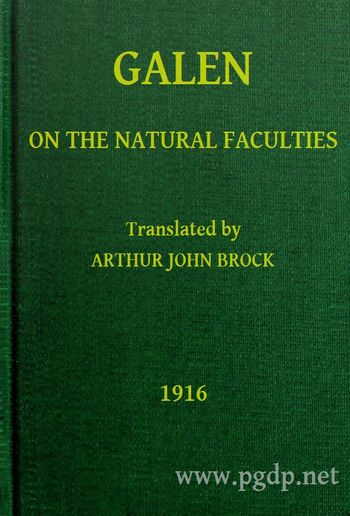 Galen: On the Natural Faculties PDF