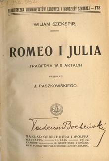 Romeo i Julia / Tragedya w 5 Aktach PDF