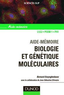 Biologie et ge'ne'tique mole'culaires PDF