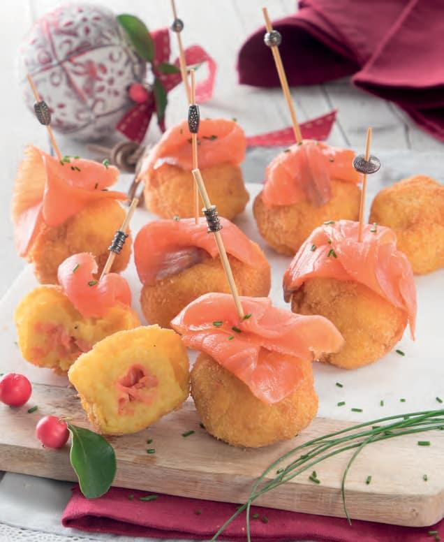 Crocchette di patate con salmone canadese