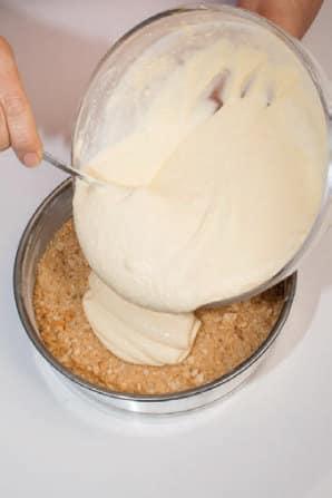 Cheesecake al Parmigiano con le pere