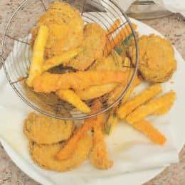 Pollo fritto e verdure in pastella allo zafferano